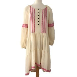 FREE PEOPLE Light Heart Embroidered Peasant Dress